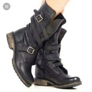 Steve Madden Bandit Black Leather Boot Size 8